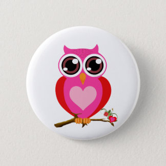 Love Cute Owls & Hearts Gifts Button