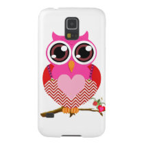 Love Cute Owls & Hearts Gifts Case For Galaxy S5
