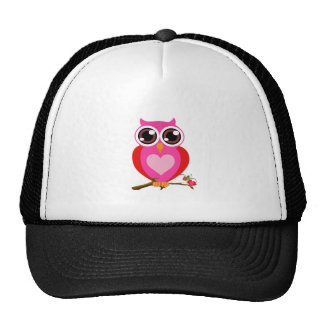 Love Cute Owls & Hearts Gifts Mesh Hat