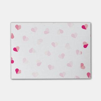 Love Cute Pink Heart Pattern Post-it Notes