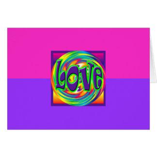 Love Cute Retro Pink Valentine House-of-Grosch Card