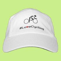 Love cycling custom text sport hat