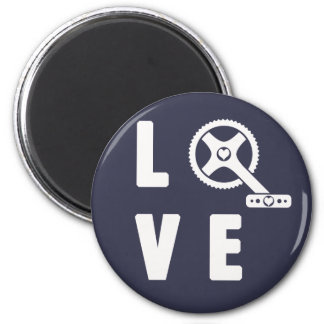 Love cycling magnet