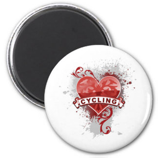 Love Cycling Fridge Magnet