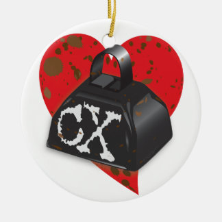 Love Cyclocross CX Deluxe Muddy Cowbell Edition Christmas Tree Ornaments