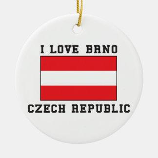 Love Czech Republic Ceramic Ornament