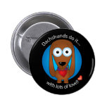 Love Dachshund 1 Pinback Buttons