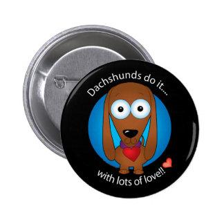 Love Dachshund 1 Pinback Buttons