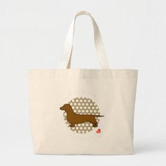 Love Dachshund Canvas Bags