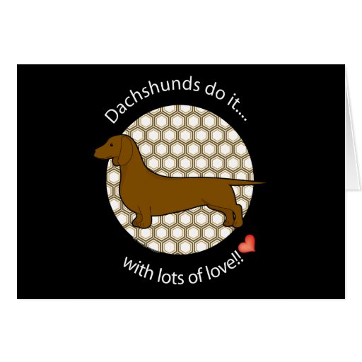 Love Dachshund Greeting Card