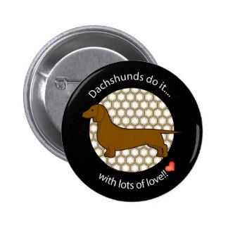 Love Dachshund Pin
