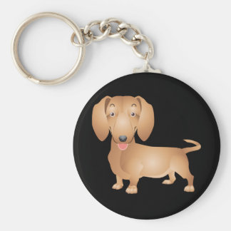Love Dachshund Puppy Dog Black Key Chain