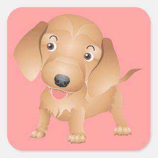Love Dachshund Puppy Dog Pink Sticker / Seal