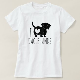 Love Dachshunds T-Shirt