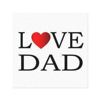 Love dad canvas print