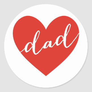 Love dad. happy father's day classic round sticker
