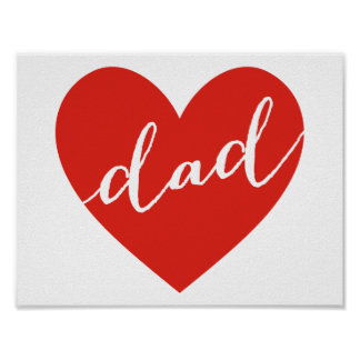 Love dad. happy father's day poster