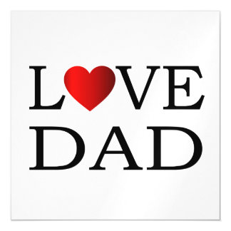 Love dad magnetic card
