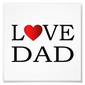 Love dad photo print