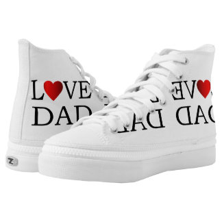 Love dad printed shoes