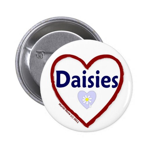 Love Daisies Pinback Buttons