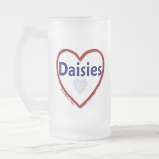 Love Daisies Frosted Glass Beer Mug