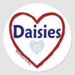 Love Daisies Round Sticker