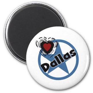 Love Dallas 2 Inch Round Magnet