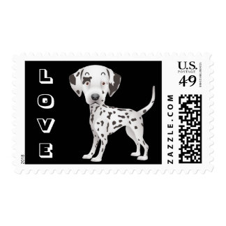 Love Dalmatian Puppy Dog Cartoon US Postage Stamps