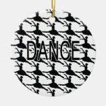 Love Dance - Ballerina dancer silhouette Christmas Ornament