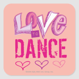 Love Dance Square Sticker
