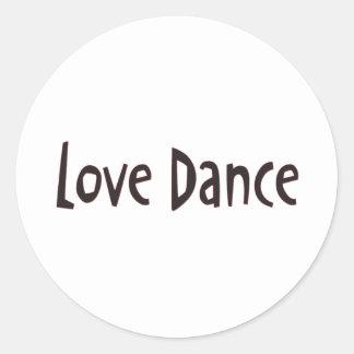 Love Dance Text Round Sticker