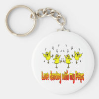 Love Dancing With My Peeps Key Chain Dancer Gift