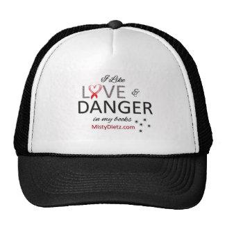 LOVE & DANGER in books Trucker Hat