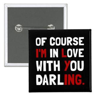 Love Darling 2 Inch Square Button