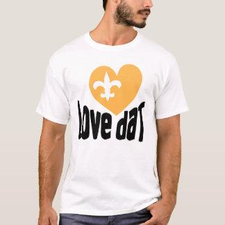 Love daT! Heart de Lis bleeds Black & Gold! T-Shirt