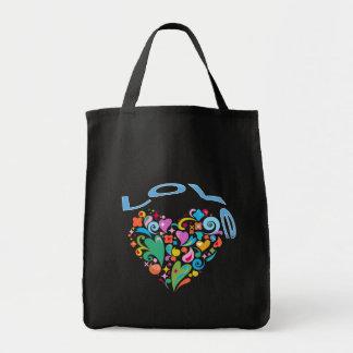 Love Decorative Heart Canvas Bag