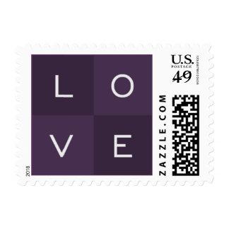 LOVE - deep purple Postage