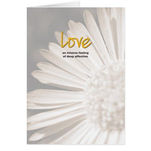 Love Definition Inspiration Card