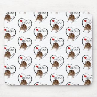 Love Degus Mousemat (White) Mousepads