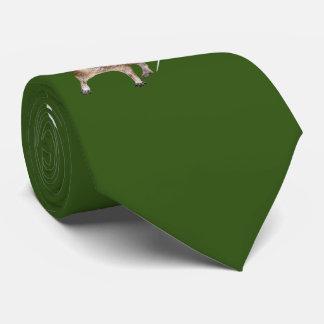 Love Degus Tie Print Both Sides (Dark Green)