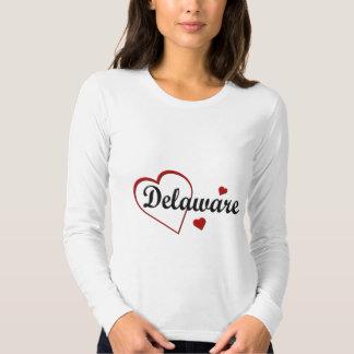 Love Delaware Hearts Ladies Long Sleeve Tee