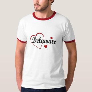 Love Delaware Hearts Mens Ringer T-shirt