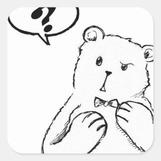 love delicious seriously funny bear anti valentine square sticker