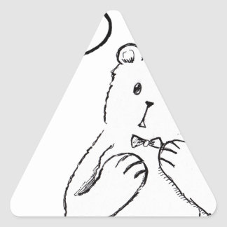 love delicious seriously funny bear anti valentine triangle sticker