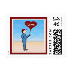 Love Delivery Customizable Postage Stamp stamp