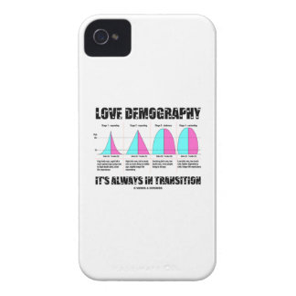 Love Demography It's Always In Transition iPhone 4 Case