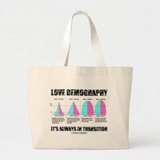 Love Demography It's Always In Transition Large Tote Bag