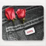 Love. Denim Design Valentine's Day Gift Mousepads