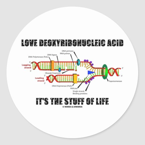 Love Deoxyribonucleic Acid It's The Stuff Of Life Stickers
